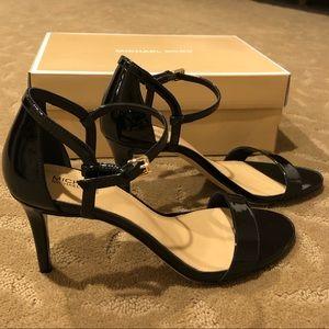 MICHAEL Michael Kors Black Patent Leather Sandals